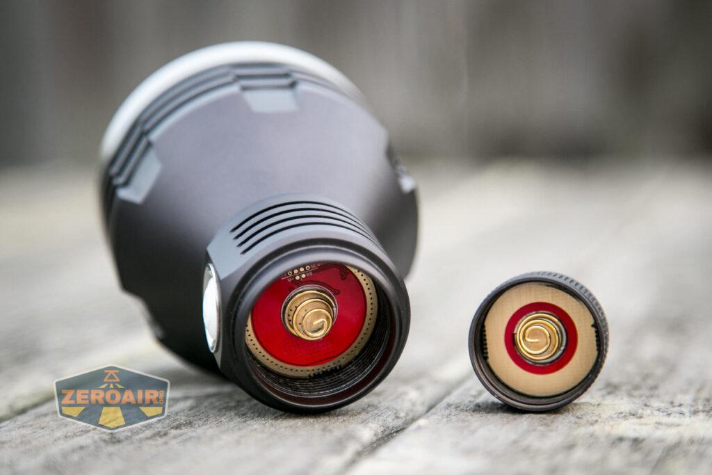 Noctigon K1 21700 Flashlight contact points