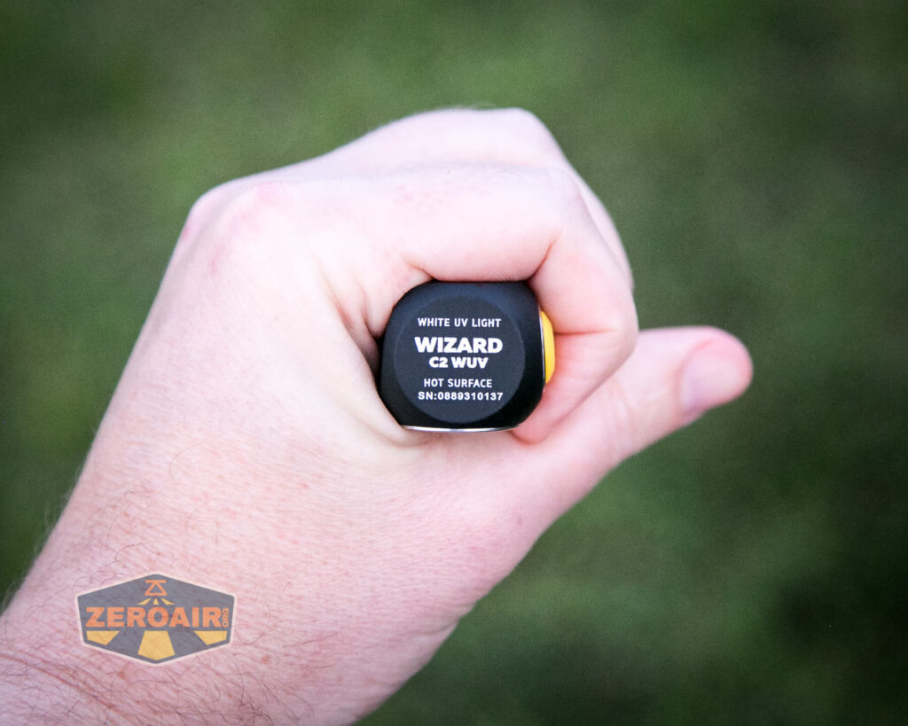 Armytek Wizard C2 WUV Headlamp in-hand