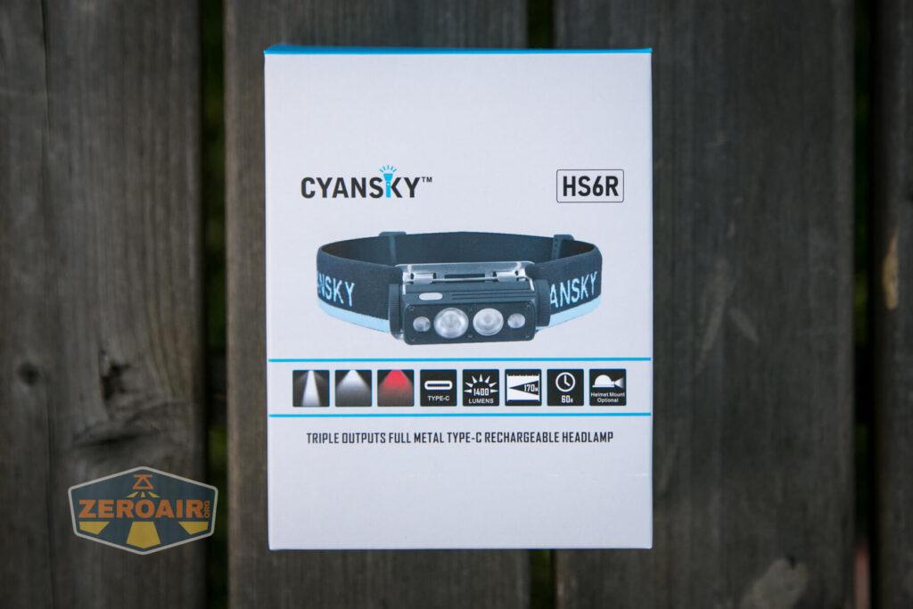 Cyansky HS6R headlamp box