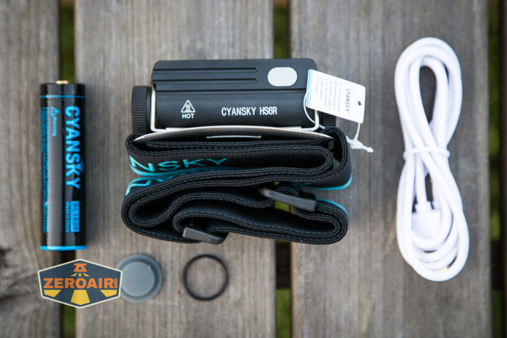 Cyansky HS6R Headlamp what's included