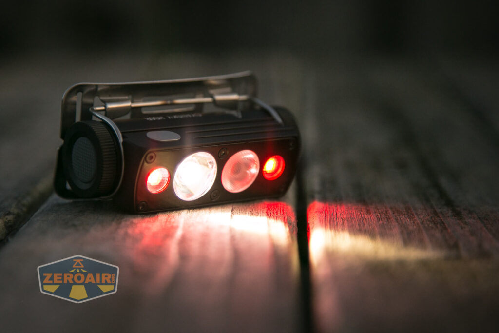 Cyansky HS6R headlamp various outputs